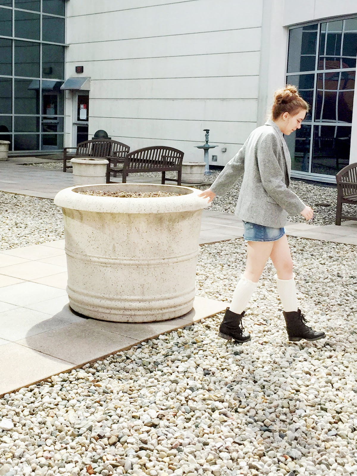 mini-skirt-blazer-combat-boots-lace-socks