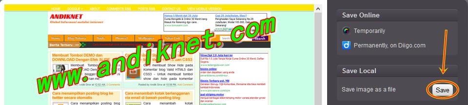 Cara mudah mengambil screenshot halaman blog full page