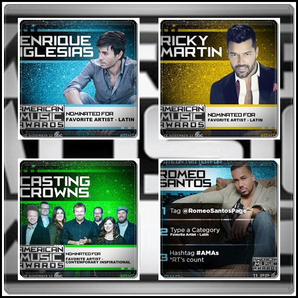 Enrique-Iglesias-Ricky-Martin-Romeo-Santos-nominados-American-Music-Awards-2015