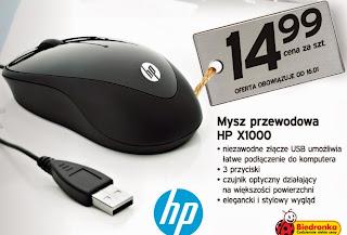 Mysz przewodowa HP X1000 z Biedronki ulotka