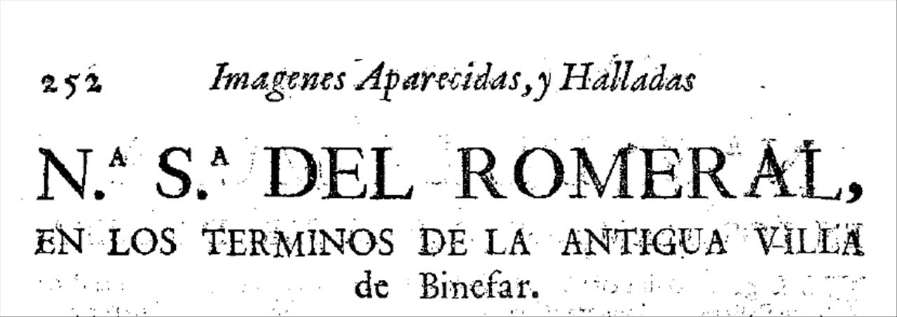 La ermita de Nª Sª del Romeral.