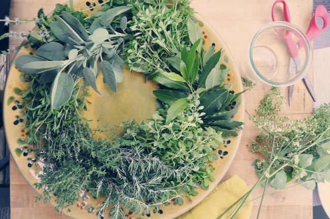 Herb wreath, herbes de provence