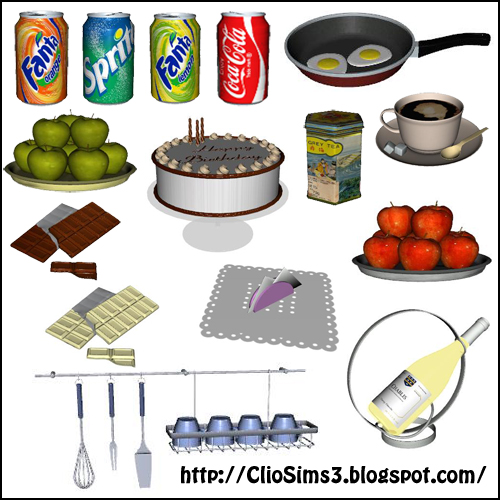 My sims 3 blog kitchen decor by dada for Sims 3 kitchen designs