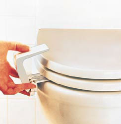 Pinza para cerrar la taza del WC