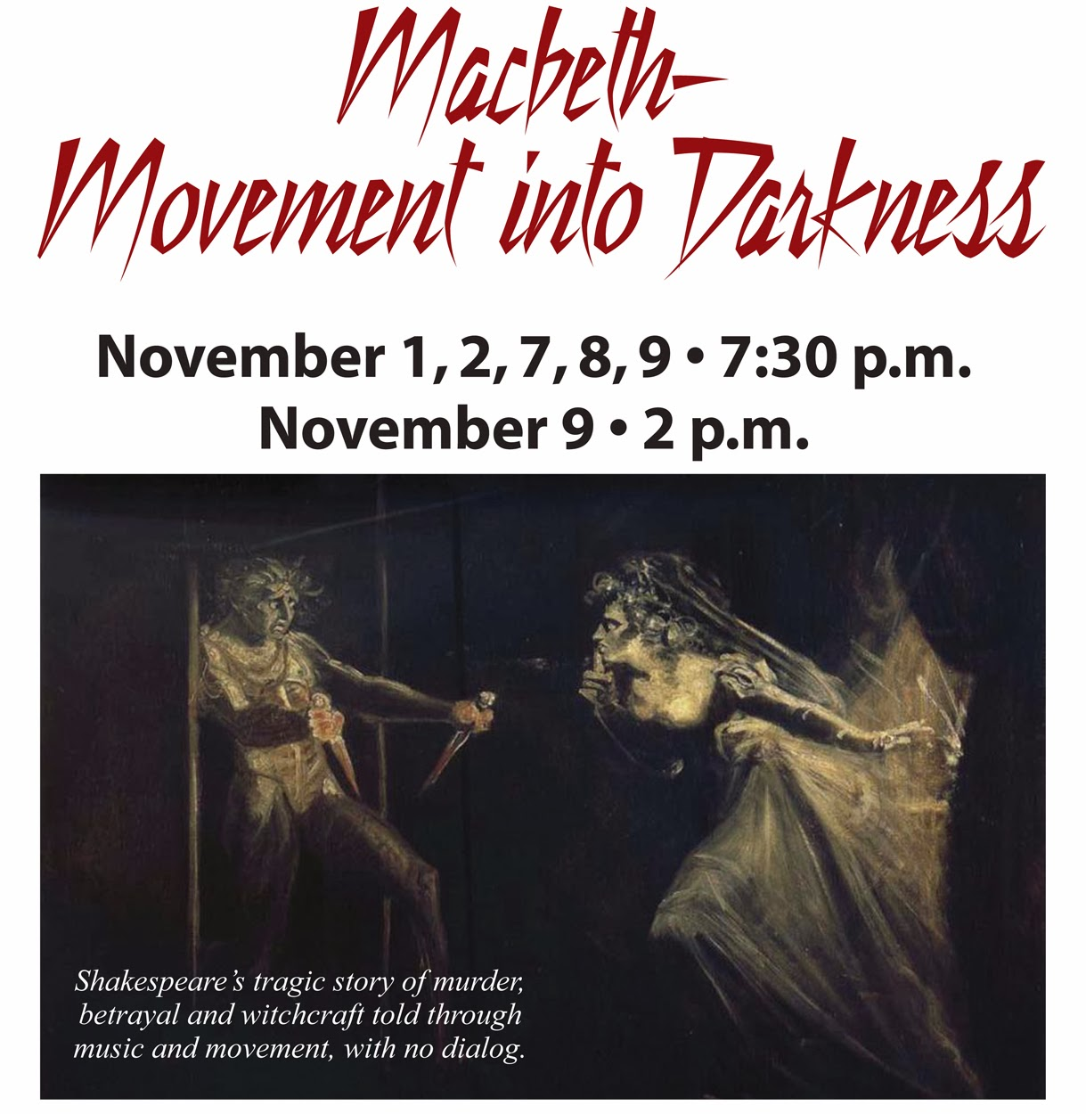 macbeths transition into darkness Darkness indicates something bad is about to happen  when macbeth visits the weird sisters and demands to know whether or not banquo's heirs will become kings,.