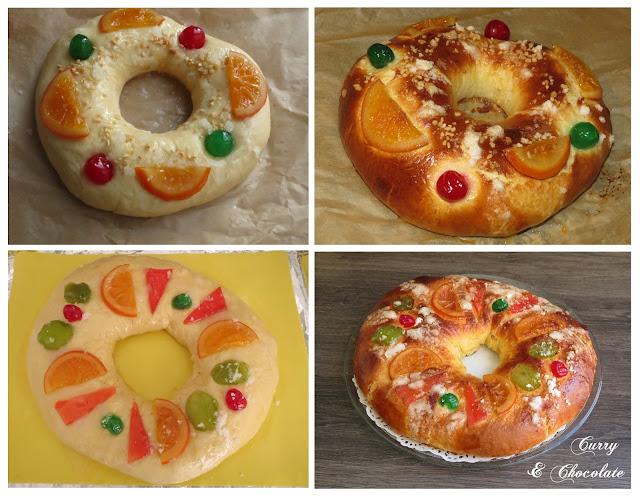 Decorando el Roscón de Reyes