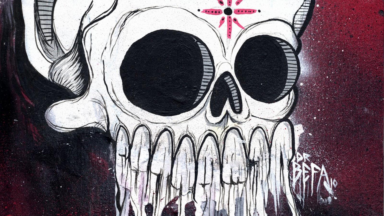 Graffiti art ideas - Skull Graffiti Art Design Ideas