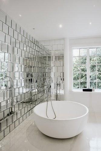 azulejo de espejo baño