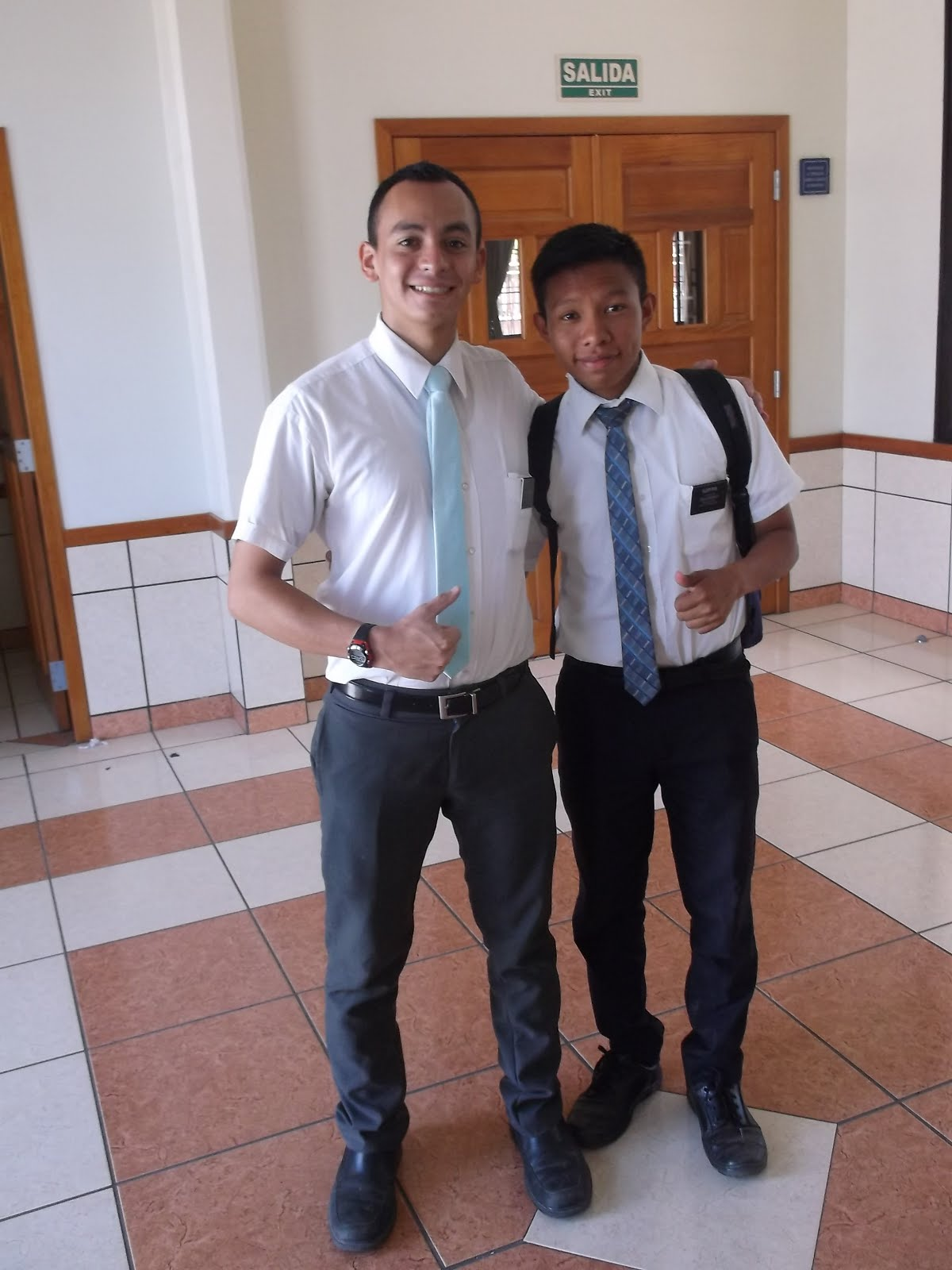 Elder Haynie and Elder Rios