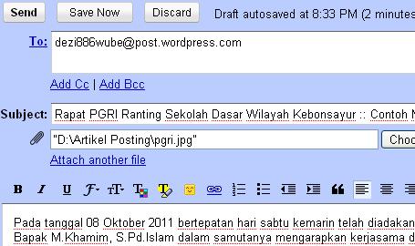 Gambar 4 Ilustrasi Pengiriman Posting Artikel Melalui Email