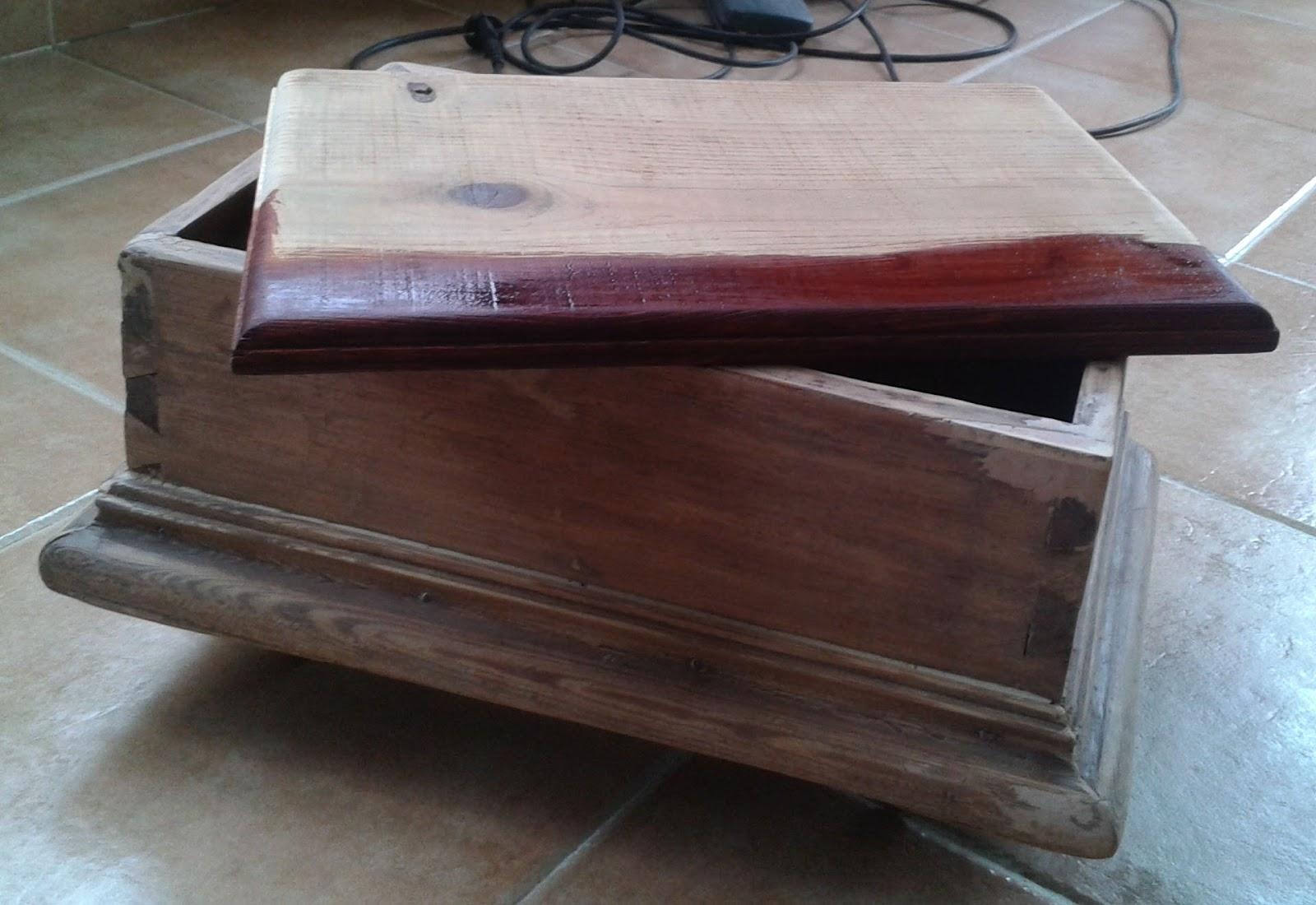 La artesan a de ana restauraci n caja costurera de madera for Restauracion tejados de madera