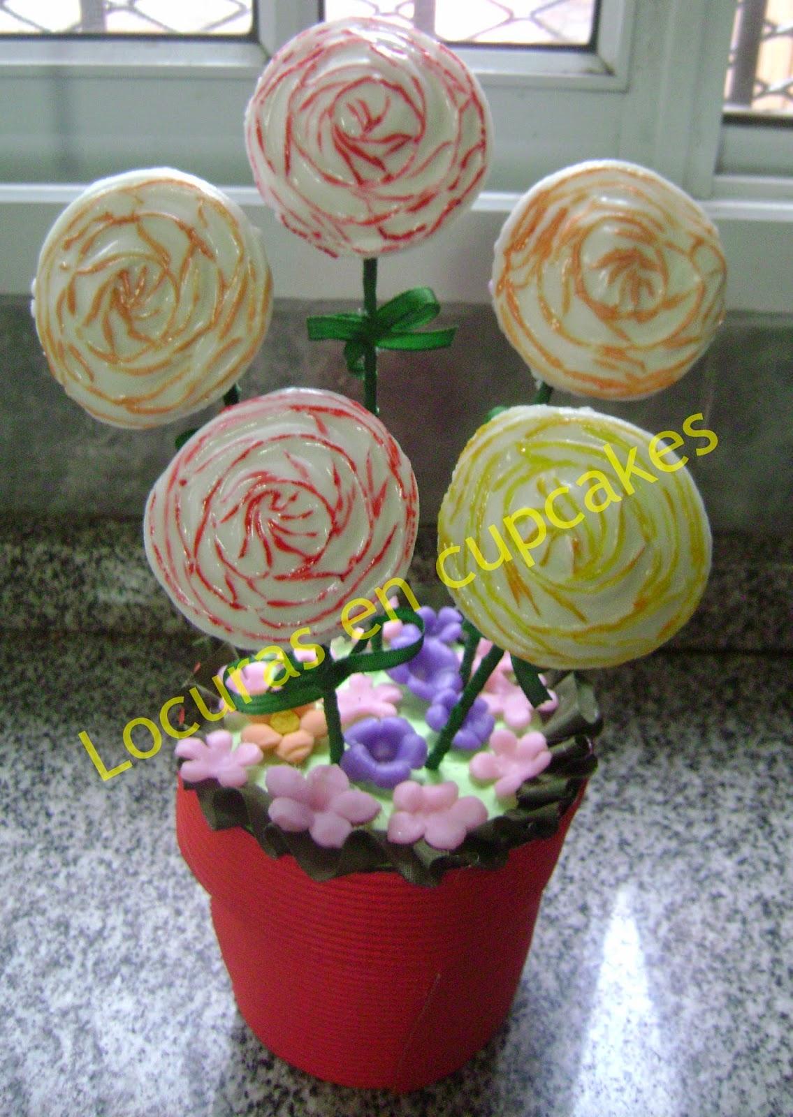 Centros de mesa de mini cupcakes