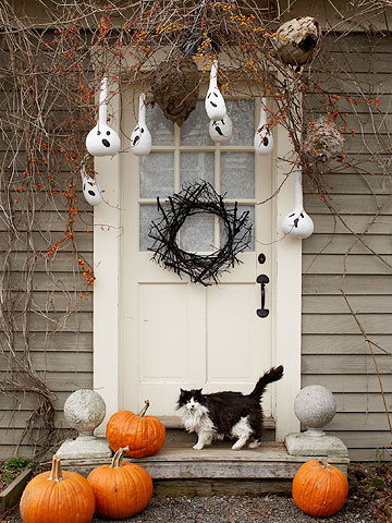 add a grapevine wreath and your door is a little bit countryand a whole lot inviting