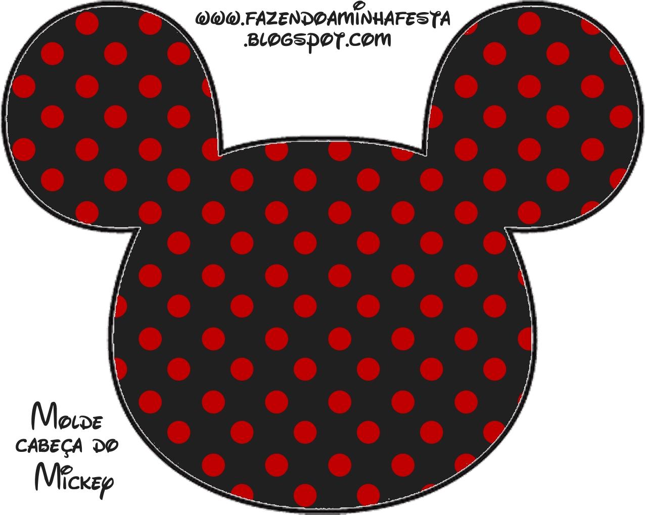 Agora Temos Um Novo Molde Limpo Da Carinha Do Mickey Em JPG