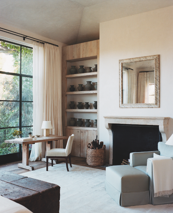 Country chic bedroom. Design by Atelier AM, photo by François Halard via The Style Saloniste.