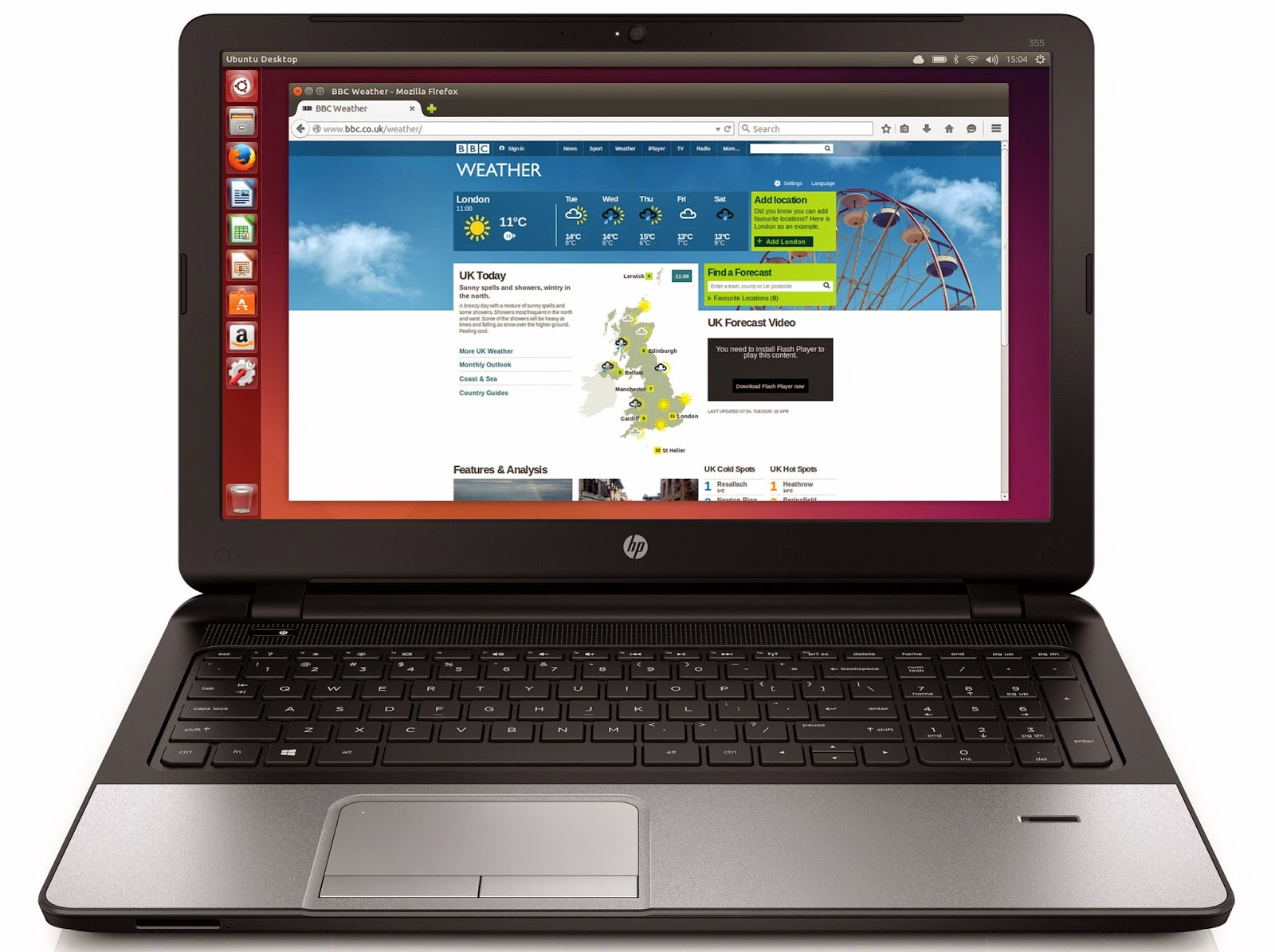 AMD powered hp ubuntu laptops
