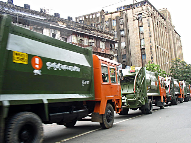 clean-up trucks in Mumbai