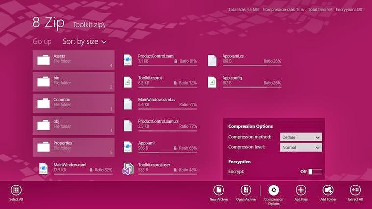 8 Zip Lite for Windows 8.1