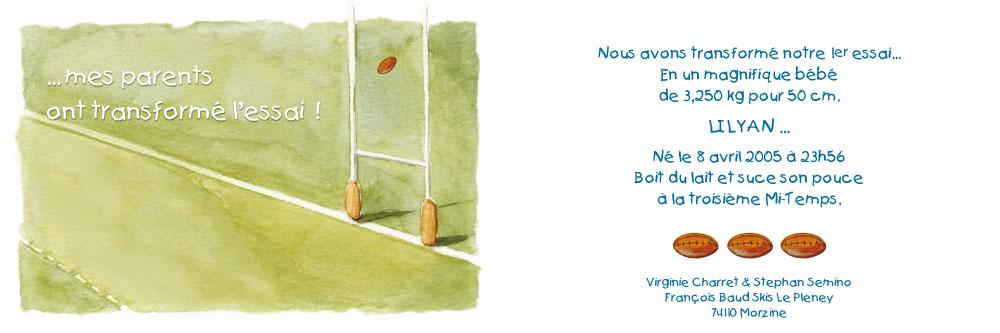 Super Le blog Rose Chou: Faire-part de naissance LE84