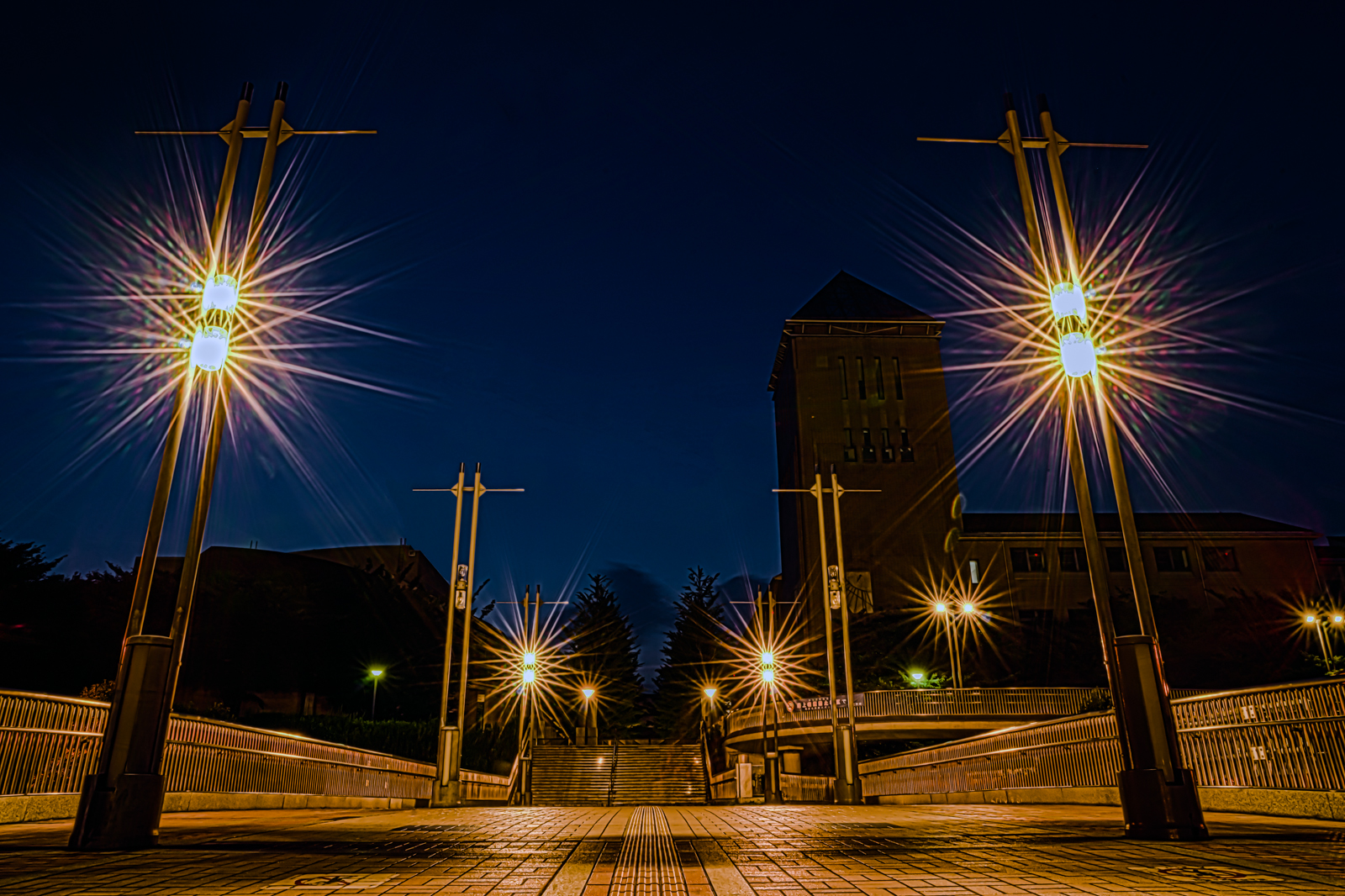 遊歩道から撮影した首都大学東京 HDR