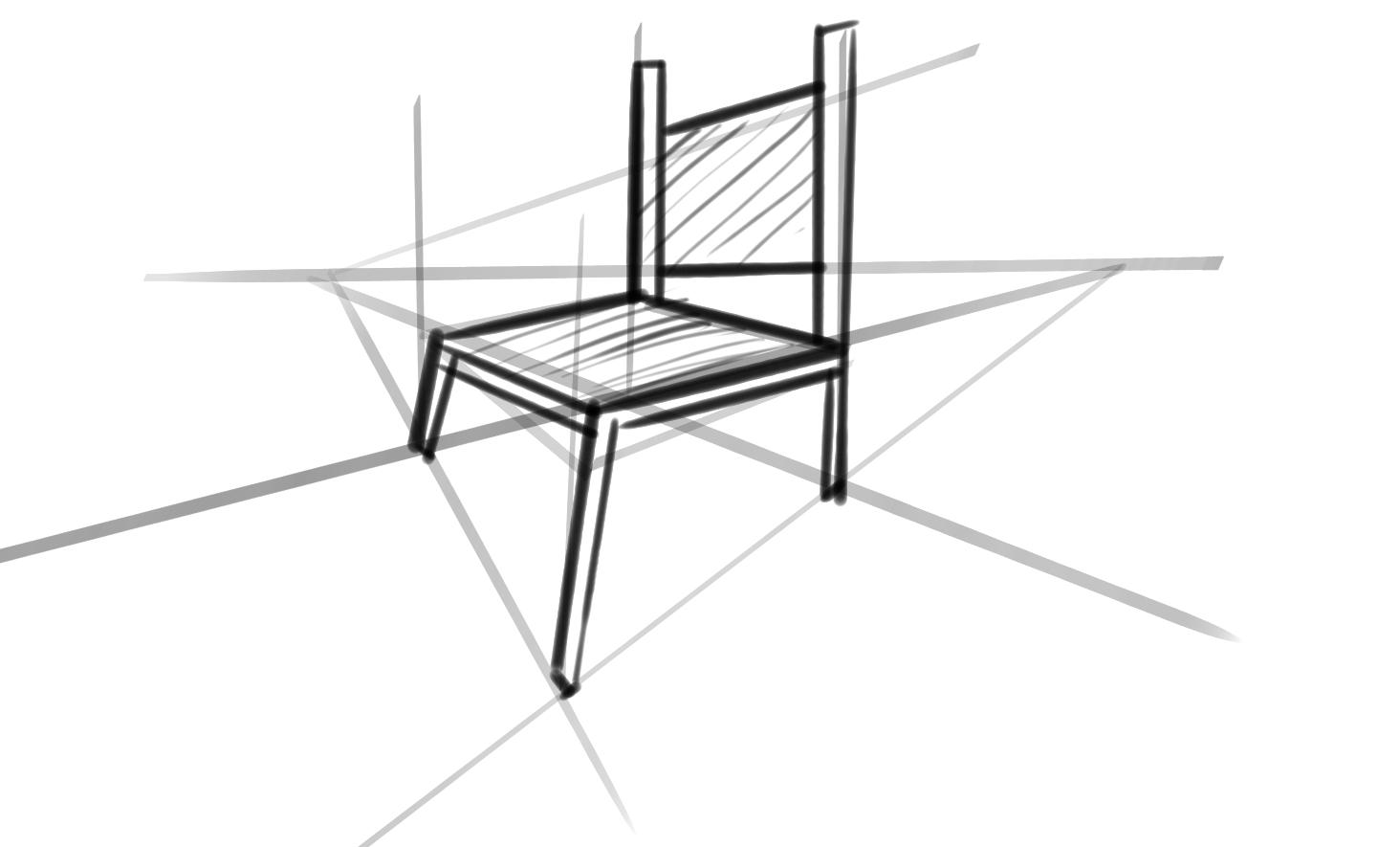 Clase 11 dibujando una silla y una taza for Silla para dibujar