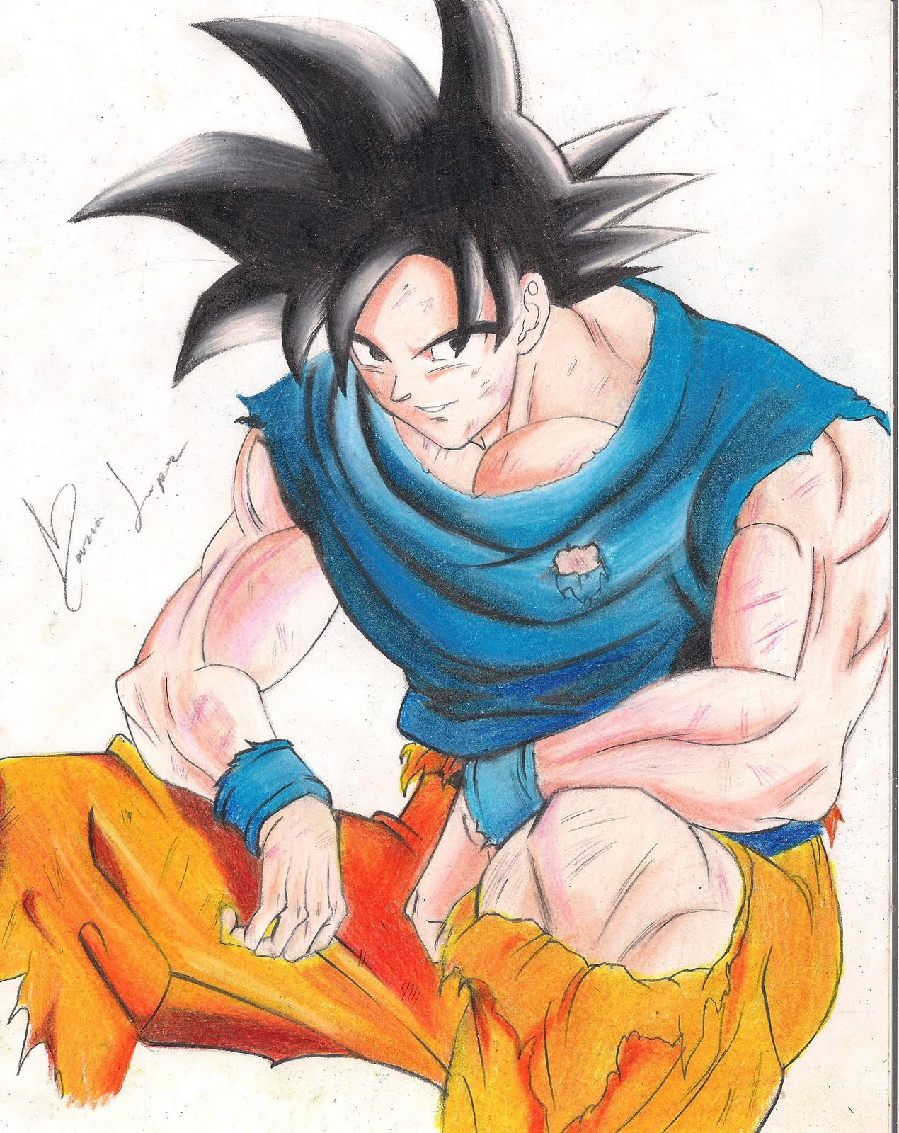 mis dibujos de dragon ball z a color