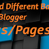 How to Add Different Backgrounds In Blogger Posts/Pages