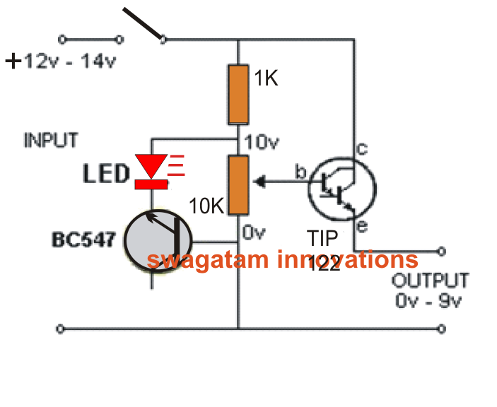 simple variable power supply circuit