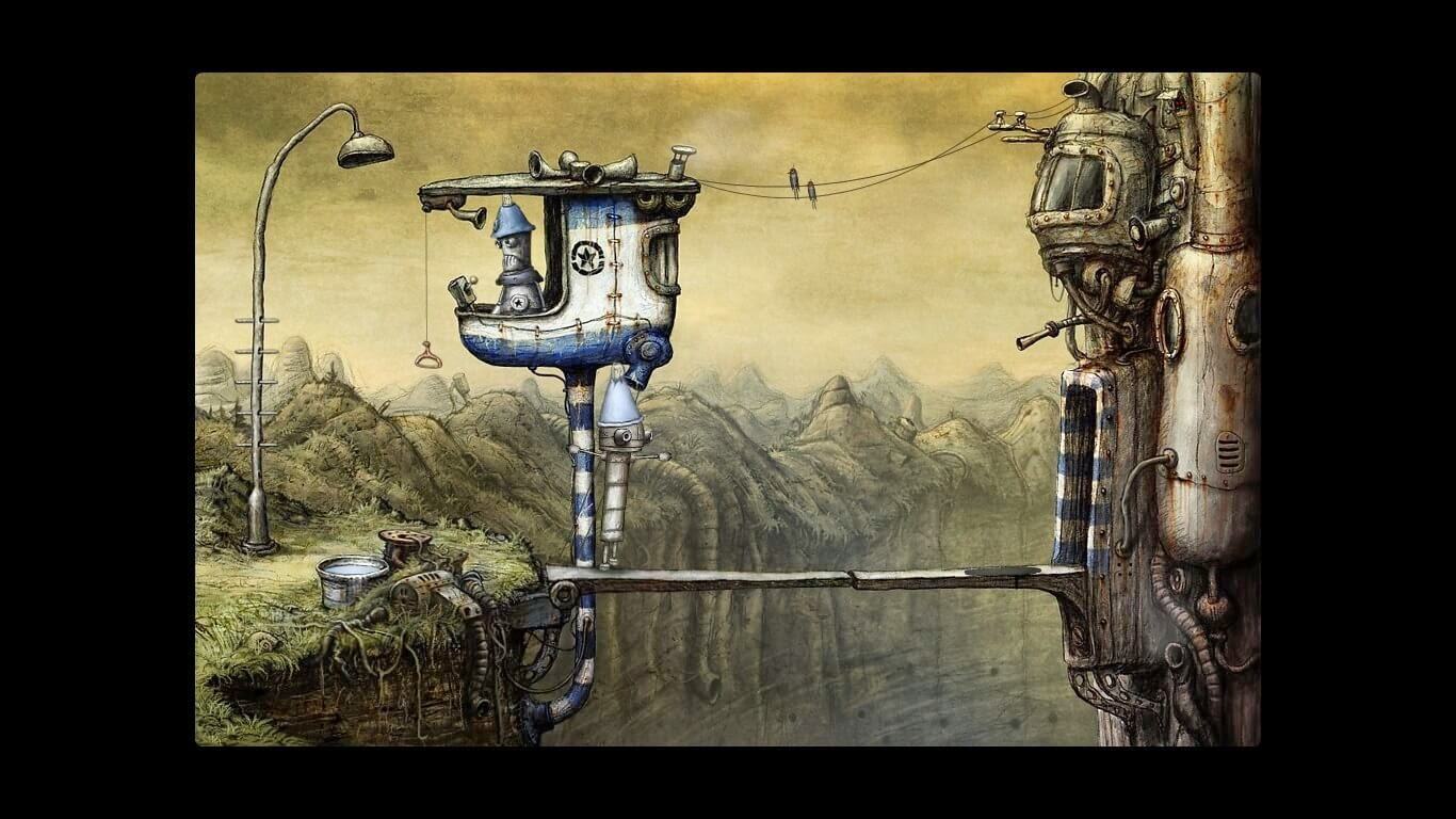Machinarium police entering the city
