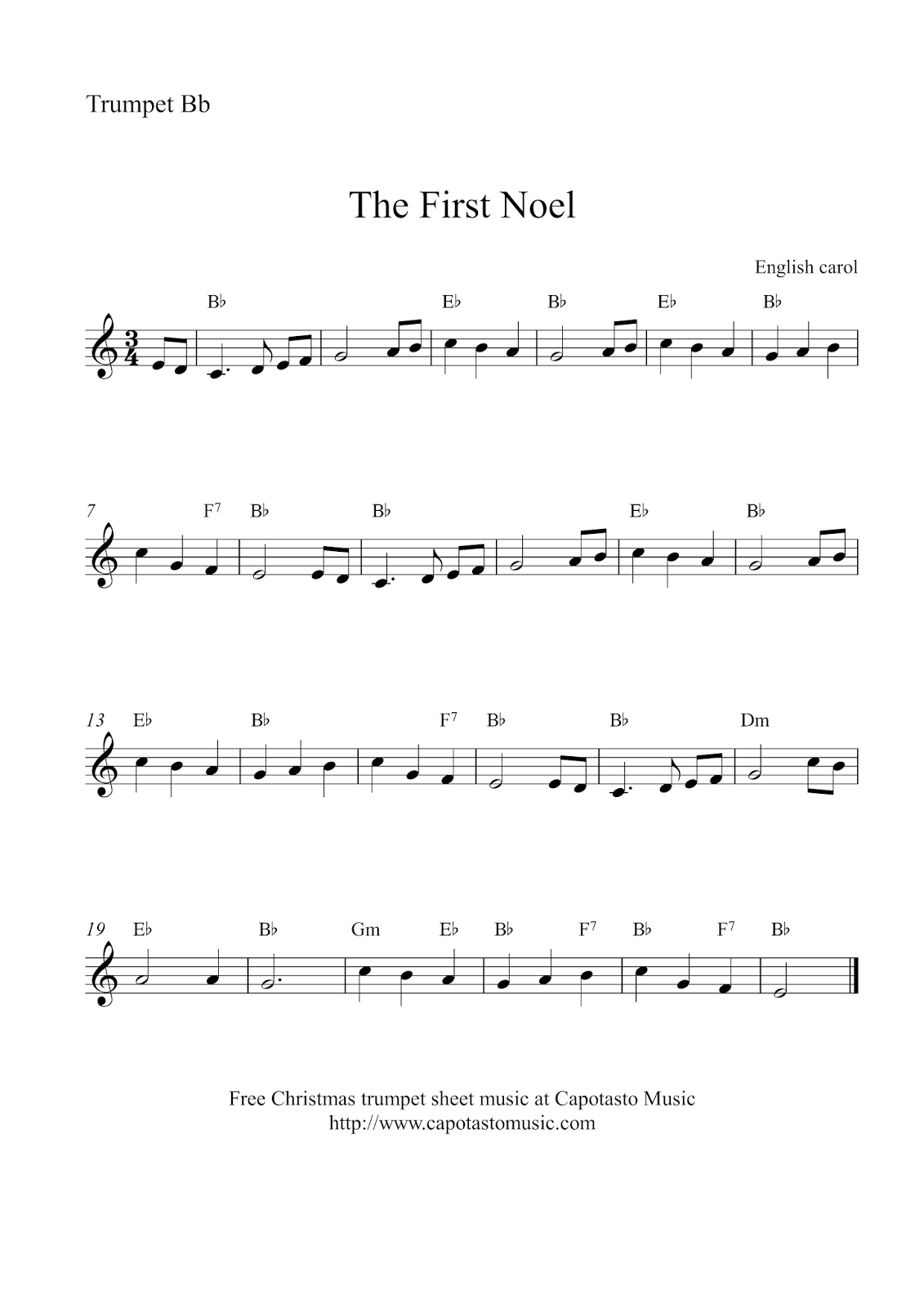This is an image of Intrepid Free Printable Sheet Music for Trumpet