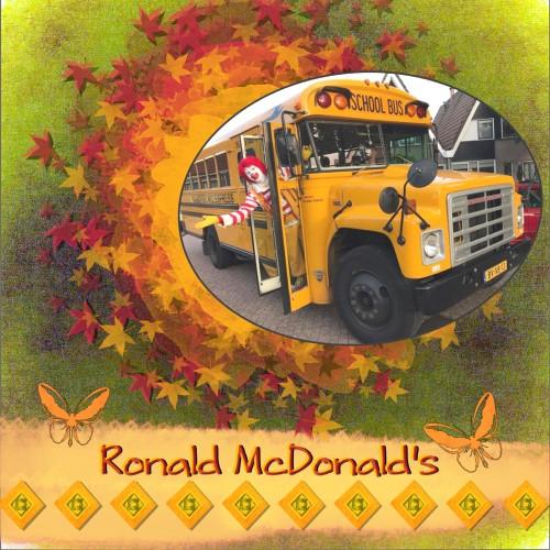 Oct. 2016 -Ronald McDonald's mask