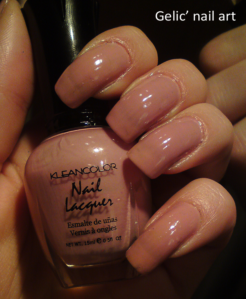Gelic\' nail art: Kleancolor- Sheer Pastel Cocoa, swatch