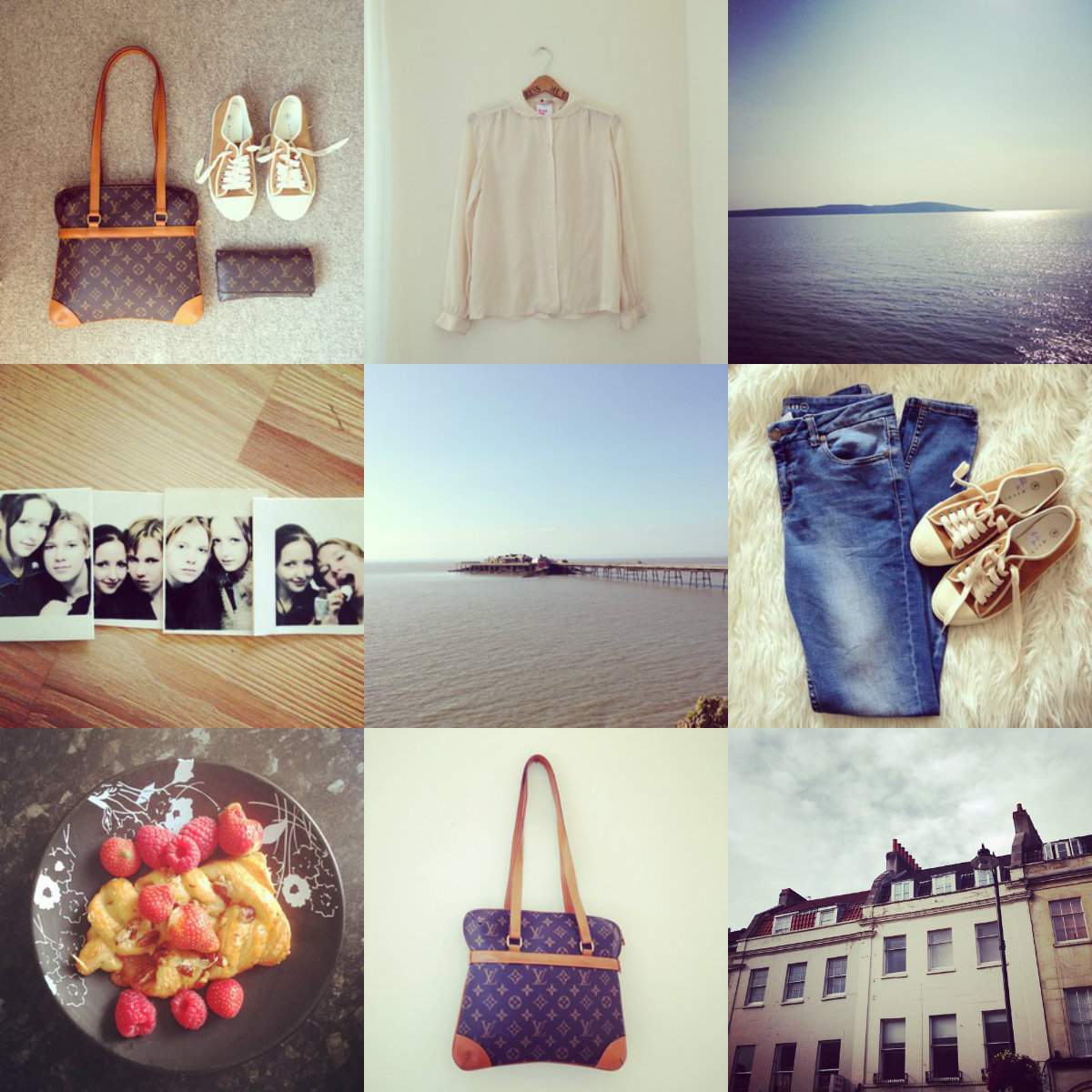 instagram, louis vuitton, whistles, beach, sky, street, vintage