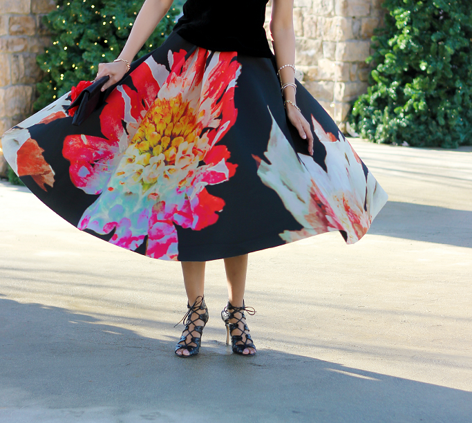 from Marco h m floral skirt