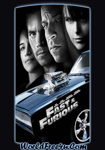 Poster Of Fast and Furious 4 (2009) In Hindi English Dual Audio 300MB Compressed Small Size Pc Movie Free Download Only At World4ufree.Org