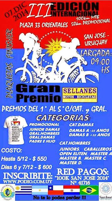 100k y 50k MTB San José (07/dic/2014)