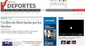 """2012: REPERCUSIÓN EN CLARÍN DIGITAL DE """"HISTORIAS DE RIVER CANTADAS POR SU GENTE II"""""""