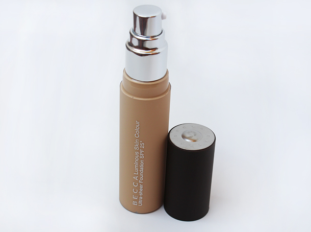 becca luminous skin colour foundation in nude review swatches