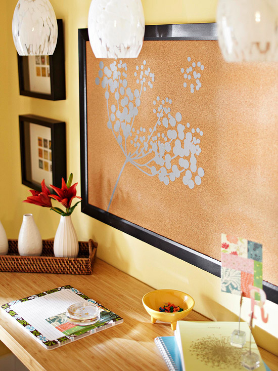 Lynn morris interiors 5 weekend decorating ideas for How to decorate a cork board