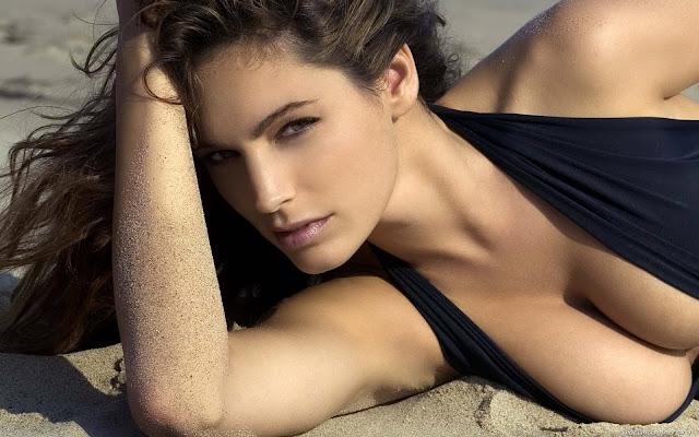 Model Girl at Beach