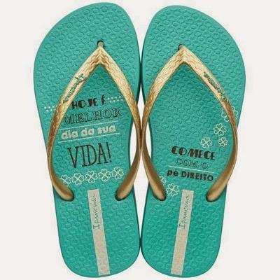 Sandálias Ipanema coleção Simpatia Sorte Verde