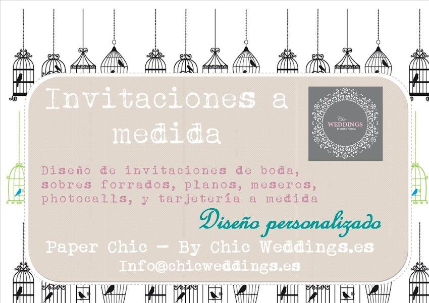 Invitaciones a medida - Diseño de papelería : PAPER CHIC