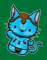 Hello Kitty in Avatar costume
