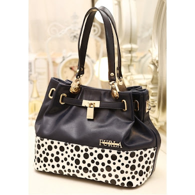 AA WITH FURLA LOGO AND LOCK (NAVY BLUE)