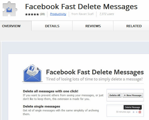 How to delete facebook messages - 116.6KB