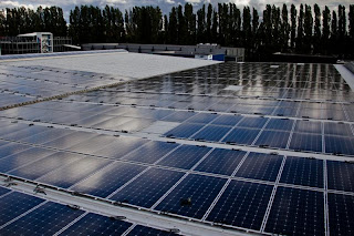 Solar Farm on Rooftop in Berlin - Germany