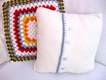 Fleece cushion cover for crochet