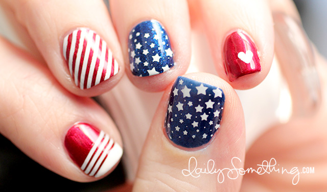 4th of July Red White and Blue Nail Designs