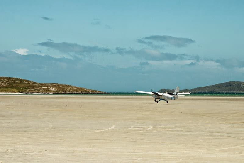 "The ""tarmac"" is white sand, the airport is subject to tides."