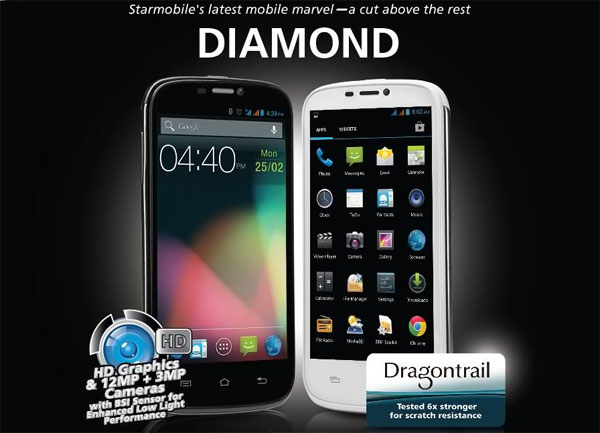 Starmobile Diamond: 5-inch Dual-core Android Jelly Bean (Price and Features)